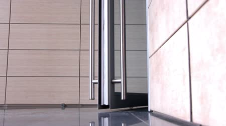 интерьер : Interior doors with effective design Стоковые видеозаписи