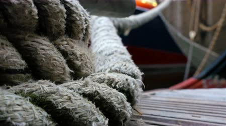 cordas : Details of boat ropes, nautical vessel