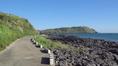 fix : Jeju, Korea - May 26, 2017: Olle trail No.12 between Suwolbong peak and Chaqwido port in Hangyeong-myeon, Jeju island, Korea. There is famous for its beautiful scenery and geological uniqueness. Dostupné videozáznamy