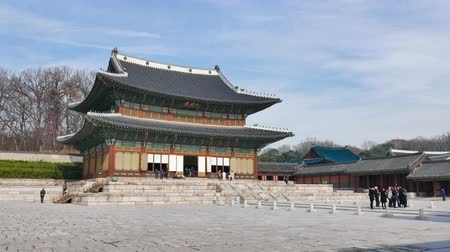 Seoul, Korea - December 9, 2015: Injeongjeon, the main hall of Changdeokgung. Changdeokgung is a palace built as a secondary palace of the Joseon dynasty in 1405, during King Taejongs reign.