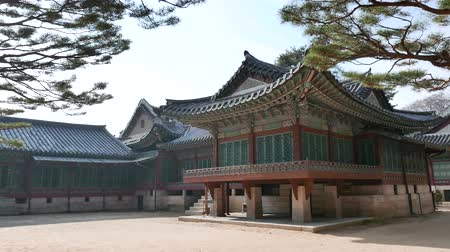 Seoul, Korea - December 9, 2015: Back of the Daejojeon in Changdeokgung. Changdeokgung is a palace built as a secondary palace of the Joseon dynasty in 1405, during King Taejongs reign.