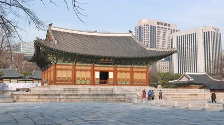 winter palace : Seoul, Korea - December 9, 2015: Junghwajeon, Main hall of Deoksugung. Deoksugung is a palace located in the center of Seoul city and served as the main palace of the short-lived Great Han Empire.