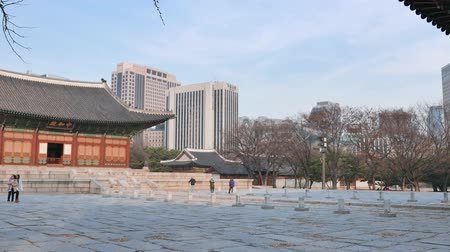 Seoul, Korea - December 9, 2015: Junghwajeon, Main hall of Deoksugung. Deoksugung is a palace located in the center of Seoul city and served as the main palace of the short-lived Great Han Empire.