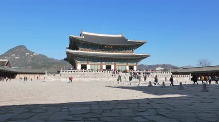 gyeongbokgung : Seoul, Korea - December 28, 2015: Geunjeongjeon, the main throne hall of Gyeongbokgung. Gyeongbokgung palace was the main palace of the Joseon dynasty, located in northern Seoul.
