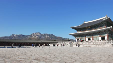 gyeongbok : Seoul, Korea - December 28, 2015: Geunjeongjeon, the main throne hall of Gyeongbokgung. Gyeongbokgung palace was the main palace of the Joseon dynasty, located in northern Seoul.