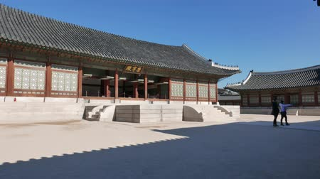 gyeongbokgung : Seoul, Korea - December 28, 2015: Gangnyeongjeon, the Kings main residential building in Gyeongbokgung. Gyeongbokgung palace was the main palace of the Joseon dynasty, located in northern Seoul.