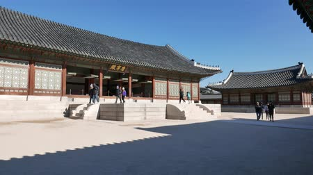 winter palace : Seoul, Korea - December 28, 2015: Gangnyeongjeon, the Kings main residential building in Gyeongbokgung. Gyeongbokgung palace was the main palace of the Joseon dynasty, located in northern Seoul.
