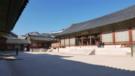 gyeongbokgung palace : Seoul, Korea - December 28, 2015: Gangnyeongjeon, the Kings main residential building in Gyeongbokgung. Gyeongbokgung palace was the main palace of the Joseon dynasty, located in northern Seoul.