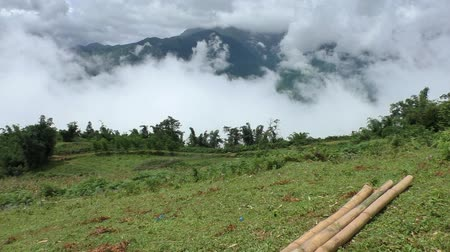 north vietnam : Beautiful view of mountains in clouds in highlands of Vietnam, Sapa