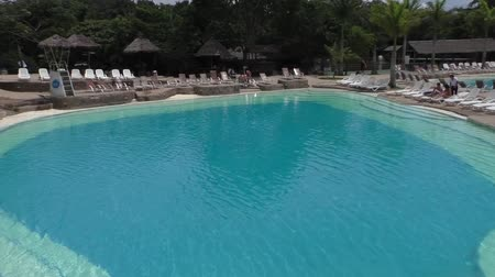 BOLIVIA, SANTA CRUZ DE LA SIERRA, 25 JANUARY 2017 - Panorama of swimming pools in Guembe Biocenter and Resort in Santa Cruz de la Sierra