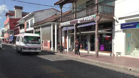 BOLIVIA, SANTA CRUZ DE LA SIERRA, 19 JANUARY 2017 - Public transport in the central street of Santa Cruz De La Sierra, Bolivia