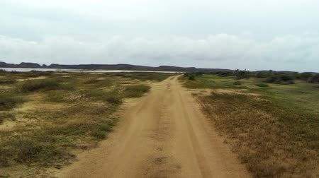 natura : Driving through rough desert terrain in the remote region of La Guajira, Colombia