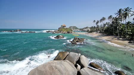 tayrona : Scene at the beach of Cabo San Juan del Guia in Tayrona National Park in Colombia
