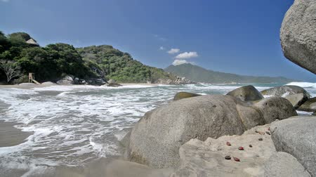 tayrona : Waves coming in to Canaveral beach in Tayrona National Park in Colombia