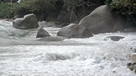 tayrona : Waves crashing onto the beach in Tayrona National Park in Colombia