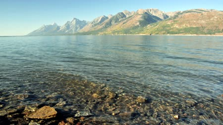 grand tetons : Jackson Lake with the Teton Mountain Range in the background