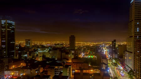 tourism : Static view of a day to night time lapse in Bogota, Colombia
