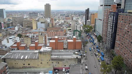 bogota : View of downtown Bogota, Colombia and heavy traffic Stock Footage