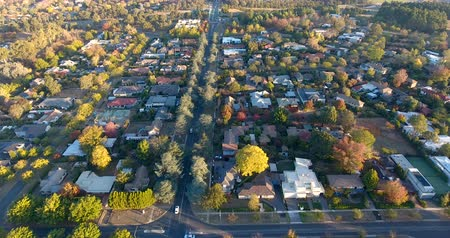 australian landscape : Aerial view of a typical Australian suburb Stock Footage
