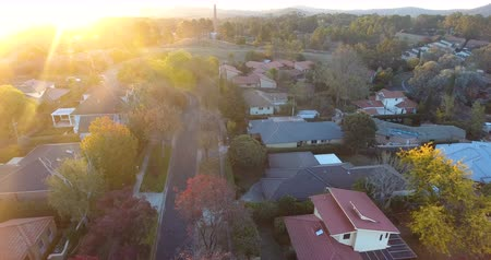 homeopático : Aerial view of a typical Australian suburb Stock Footage