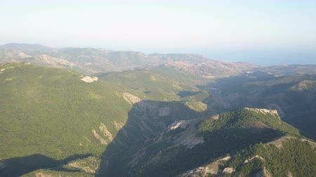 местность : Amazing aerial view of Mountains in Crimea.