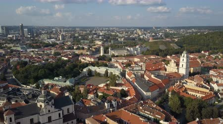 architectural heritage : Beautiful Aerial view of the old town of Vilnius, the capital of Lithuania.