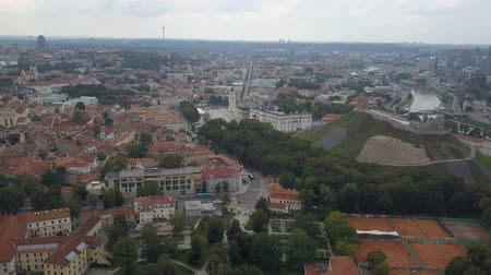 homlokzatok : Beautiful Aerial view of the old town of Vilnius, the capital of Lithuania.