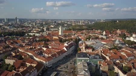 Beautiful Aerial view of the old town of Vilnius, the capital of Lithuania.