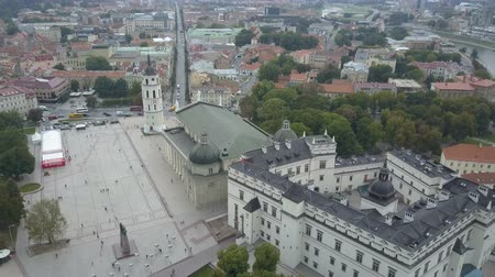 barok : Beautiful Aerial view of the old town of Vilnius, the capital of Lithuania.