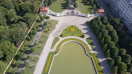 žíly : Aerial view of Belvedere palace in Vienna, Austria.