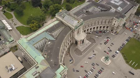 hofburg : AERIAL view of Vienna. Heldenplatz, Hofburg Imperial Palace and cityscape City of Vienna, Austria