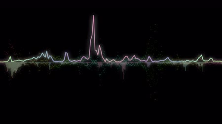 ses : colorful sound waves, lines and dots. Good background for audio related concepts Stok Video