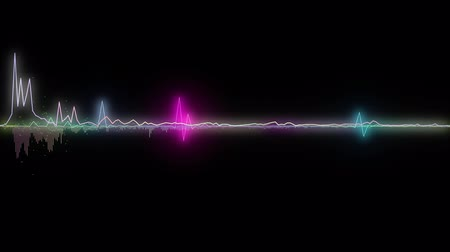 amplificador : colorful sound waves, lines and dots. Good background for audio related concepts Vídeos