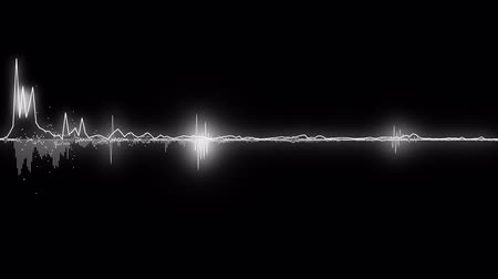 gravador : sound waves, lines and dots. Good background for audio related concepts Stock Footage
