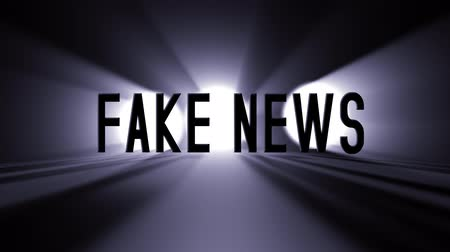 democrat : Fake News 3D animation with a black background