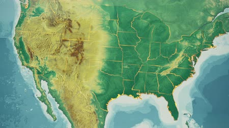 kongres : USA Map, Oklahoma pull out, all 50 states available. Transition from natural colors to a vintage look. The states' borders glow and flicker. No names or letters, so you can insert own graphics and fonts. For news, documentaries, info, elections, etc. Dostupné videozáznamy