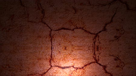 inferior : Video animation of a rolling cracked stone surface with subtle yellow spotlight on the bottom to accent the placement of copy.  Created primarily for use as a design element overlay.
