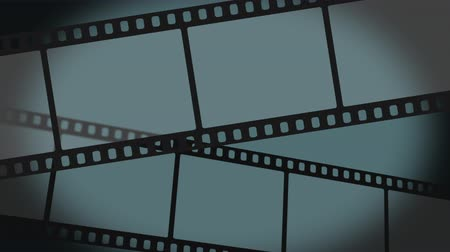 aparat : 35 mm movie filmstrips move through the frame and can be used for background elements.