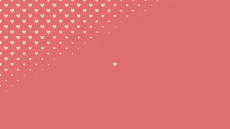 animação : Valentines video background of swiping hearts emphasizing love and romance can be used for placement of copy or as a design element