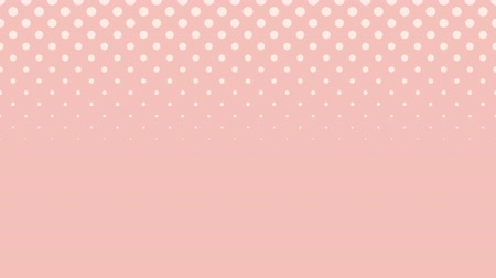 desen : Pink video background with white circles forming in and out.