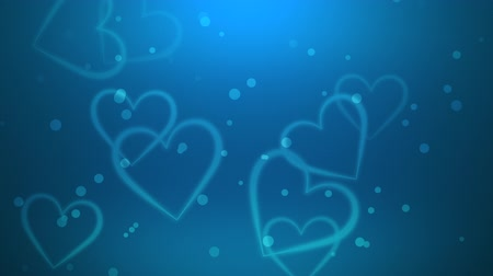 esküvő : A Valentines video background includes continually forming hearts against a blue backdrop. Perfect for placement of copy and for use as a design element for weddings or for romantic occasions.