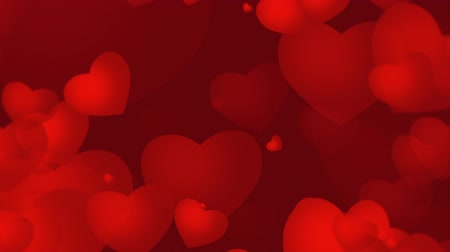 miłość : Red Valentines video background with growing red hearts that emphasize love and romance. Perfect for placement of copy and for use as a design element for weddings or for romantic occasions. Wideo