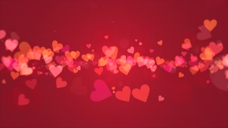 miłość : Red Valentines video background with pastel growing red hearts that emphasize love and romance. Perfect for placement of copy and for use as a design element for weddings or for romantic occasions.