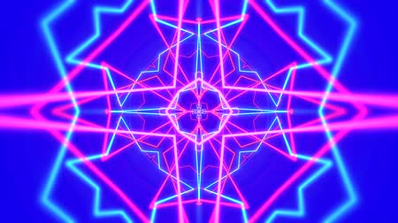 абстрактный фон : Psychedelic clip showing the formation of colorful pink shapes and lines complementary color mixes and unique patterns on a blue background for use as retro 1970 style backgrounds or general backdrops for screen savers and wallpaper.