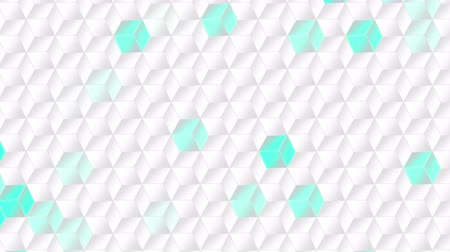 серый фон : Computer generated animated white squares background for use as a desktop screen saver, text overlay, or subtle design element background for corporate presentations. Стоковые видеозаписи