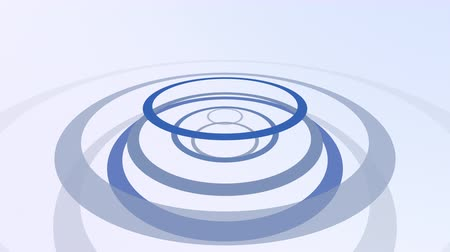 серый фон : Computer generated animated blue and gray forming circles on white background for use as a desktop screen saver, text overlay, or subtle design element background for corporate presentations. Стоковые видеозаписи