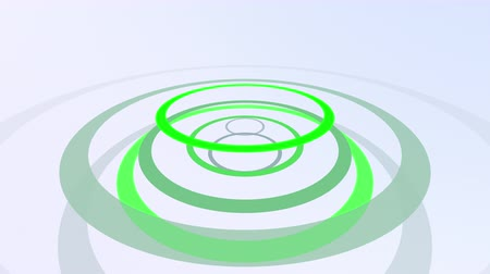 navrhnout : Computer generated animated green and gray forming circles on white background for use as a desktop screen saver, text overlay, or subtle design element background for corporate presentations.