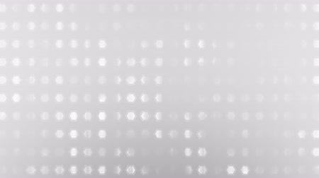 yayın : Computer generated animated gray honeycomb on white background for use as a desktop screen saver, text overlay, or subtle design element background for corporate presentations.