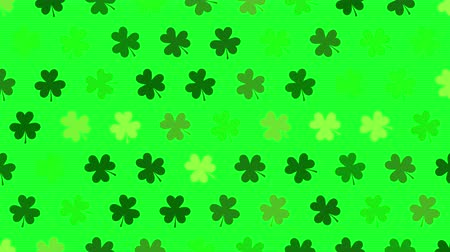 patrik : St. Patricks animated clovers against a bright green background. For use as a general backdrop, design element or as an overlay for placement of text or other copy. Dostupné videozáznamy
