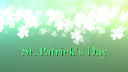 patrik : St. Patricks animation with green bokeh and a subtle vignette for use as a background or design element for placement of text or other copy.